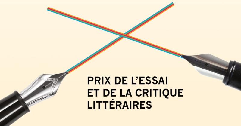 Prix de l'essai et de la critique littéraires 2019 de l'INGE